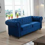blue 2 seater sofa