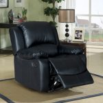 black recliner leather sofa