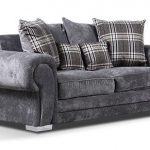 Verona-Fabric-3-Seater-Sofa-Silver-Grey